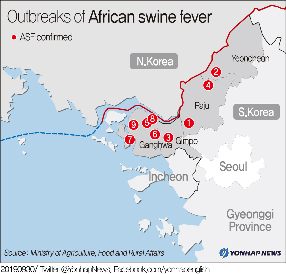 Outbreaks of African swine fever