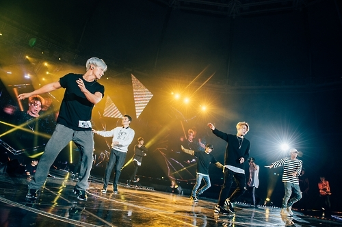 "South Korean boy band Sechs Kies performs during their comeback concert ""Yellow Note"" held in southeastern Seoul on Sept. 10, 2016. This photo was provided by the YG Entertainment."