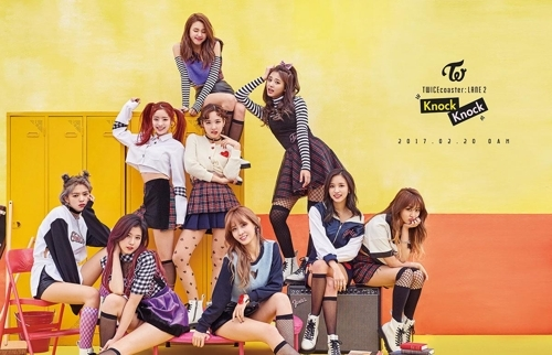 Above is a promotional image for TWICE, provided by JYP Entertainment. (Yonhap)