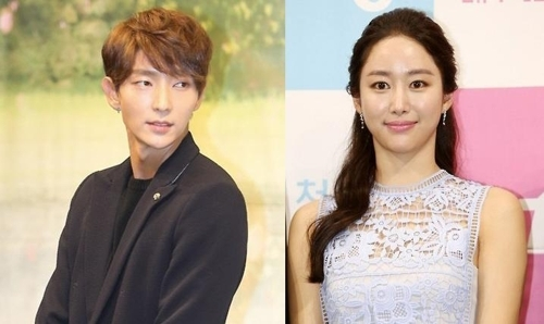This composite file photo shows Lee Joon-gi and Jeon Hye-bin. (Yonhap)