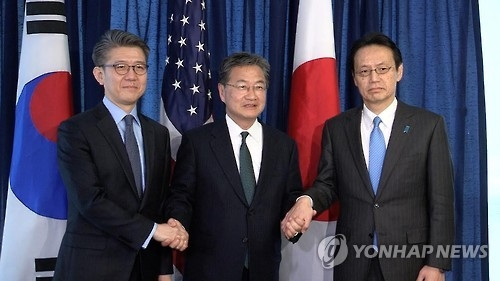 (LEAD) S. Korea, U.S., Japan vow to closely cooperate against N.K. provocations