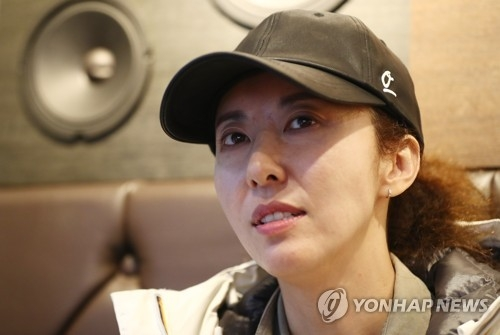 In this file photo, singer Kim Wan-sun speaks during an interview with Yonhap News Agency on April 7, 2017. (Yonhap)