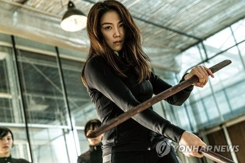 "A still cut from the Korean film ""The Villainess"" (Yonhap)"