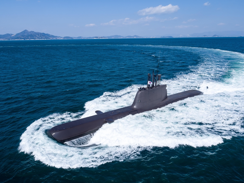 South Korea's new 1,800-ton submarine, the Yu Gwan-sun, in this file photo provided by the Defense Acquisition Program Administration (DAPA). (Yonhap)