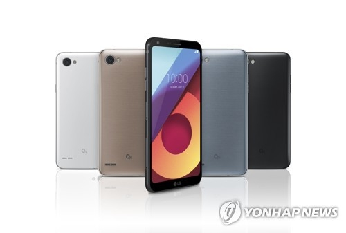 The Q6, the new mid-priced smartphone from LG Electronics (Photo provided by LG Electronics) (Yonhap)