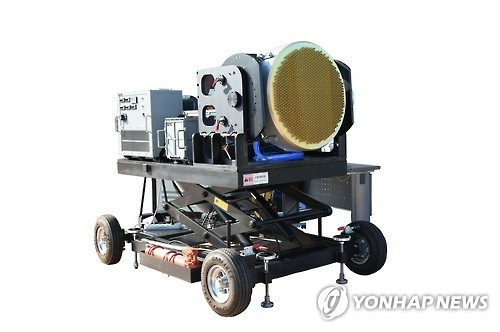 A prototype AESA radar in this file photo provided by South Korea's Agency for Defense Development (Yonhap)
