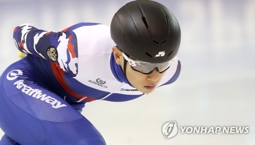 Russian short track speed skating star Victor An joins a training program in Seoul in this file photo taken on July 17, 2017. (Yonhap)