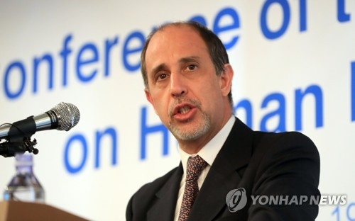 Tomas Ojea Quintana, U.N. special rapporteur on human rights in North Korea, in a file photo (Yonhap)