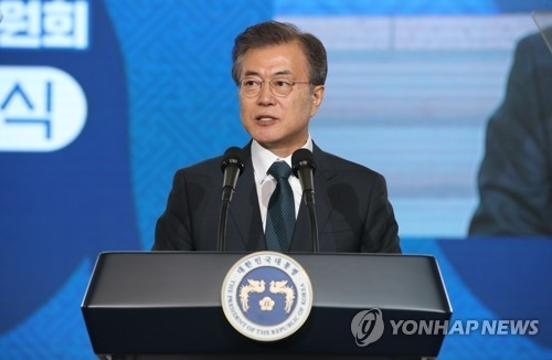 A file photo of President Moon Jae-in taken at an event in Seoul on July 3, 2018. (Yonhap)