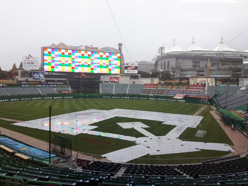 S. Korean baseball championship game postponed to Friday due to rain