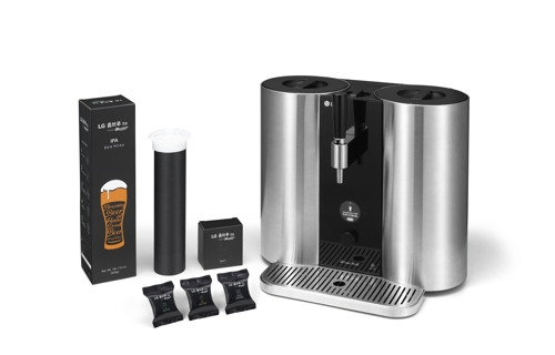 LG Electronics introduces home beer brewing kit