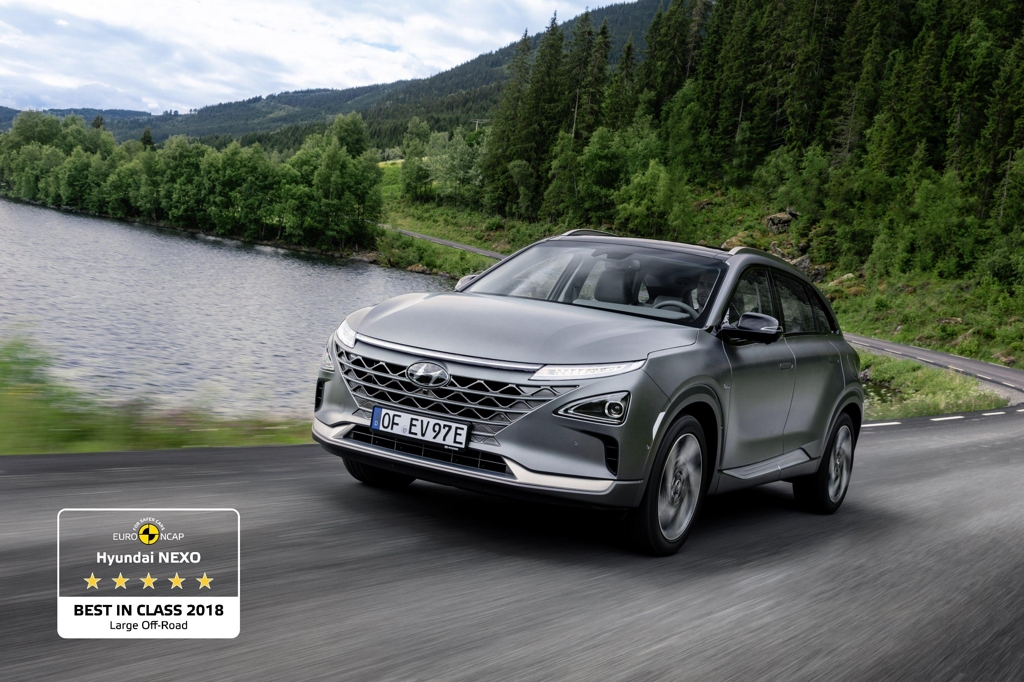 Hyundai Nexo among Euro NCAP's best rated cars in 2018