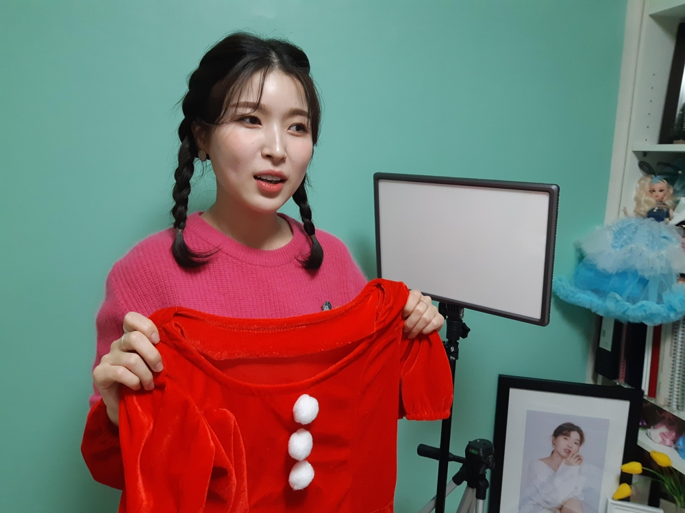North Korean defector Kang Na-ra speaks during an interview with Yonhap News Agency at her home in Seoul on Dec. 19, 2018. (Yonhap)