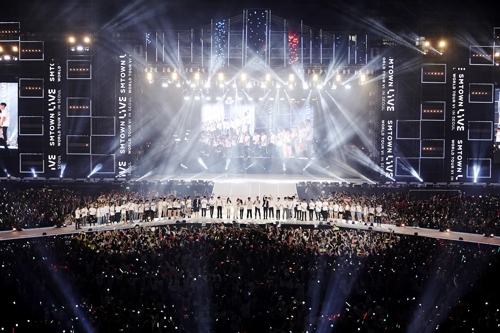 "This image of a ""SMTOWN Live"" concert was provided by SM Entertainment. (Yonhap)"
