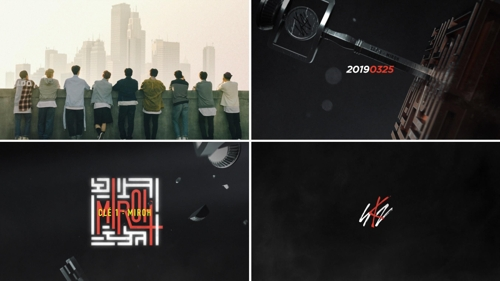 "These teaser images, for Stray Kids' upcoming album ""Cle 1 : MIROH,"" are provided by JYP Entertainment. (Yonhap)"