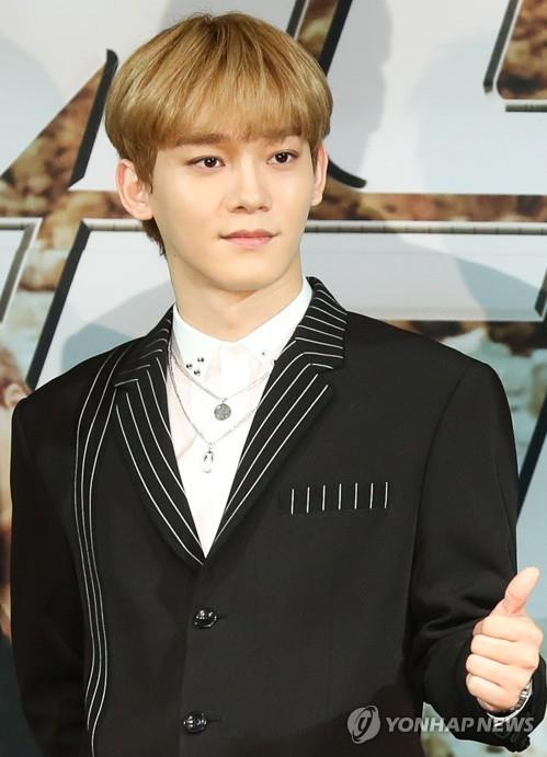 This file photo shows EXO's Chen. (Yonhap)