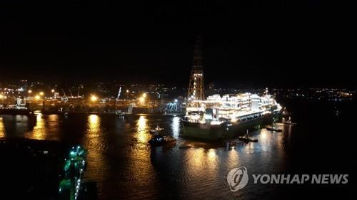 This photo, provided by Samsung Heavy Industries Co., shows an offshore oil storage facility. (Yonhap)