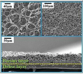 This image provided by KIST shows the structure of the special silicon sponge used in a nanogenerator. (PHOTO NOT FOR SALE) (Yonhap)