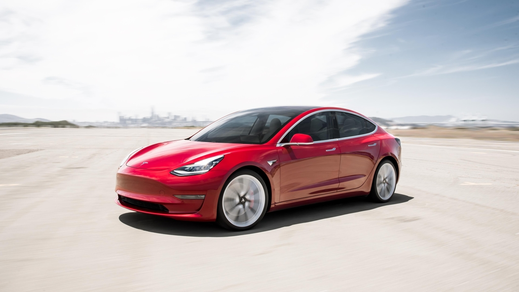 This file photo provided by Tesla shows the Model 3 launched in South Korea on Aug. 13, 2019. (PHOTO NOT FOR SALE) (Yonhap)