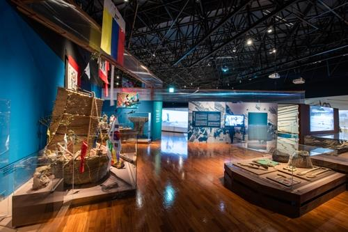 "This image of the National Folk Museum of Korea's exhibition, ""Miyok and Konbu: A Voyage into Maritime Cultures of Korea and Japan,"" is provided by the museum. (PHOTO NOT FOR SALE) (Yonhap)"