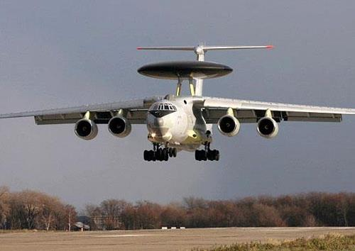 This image captured from Russia's defense ministry website shows a Russian A-50 early warning and control airplane. (PHOTO NOT FOR SALE) (Yonhap)