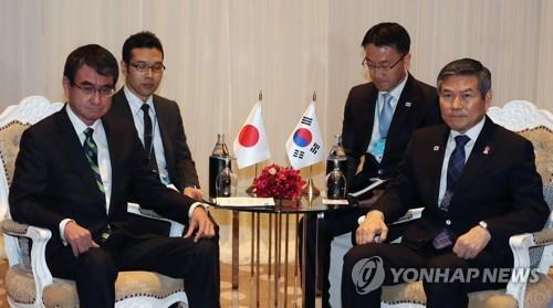 (4th LD) S. Korean, Japanese defense chiefs fail to narrow differences on GSOMIA