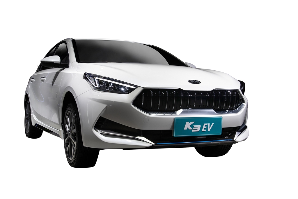 This image provided by Kia Motors shows its all-electric K3 compact to be launched in China early next year. (PHOTO NOT FOR SALE) (Yonhap)