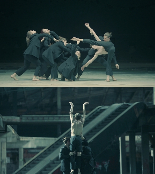 "These images from the art video of BTS' ""Black Swan"" are provided by Big Hit Entertainment. (PHOTO NOT FOR SALE) (Yonhap)"