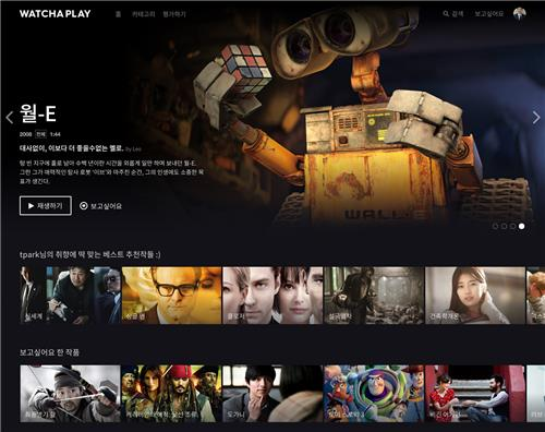 This image provided by Watcha Inc. shows the company's over-the-top (OTT) platform, Watcha Play. (PHOTO NOT FOR SALE) (Yonhap)