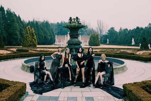 "A promotional image of (G)I-dle for EP ""I Trust,"" provided by Cube Entertainment (PHOTO NOT FOR SALE) (Yonhap)"