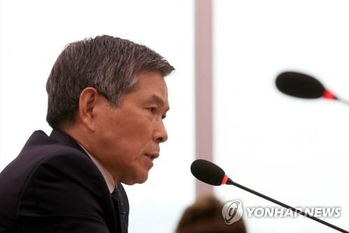 Defense Minister Jeong Kyeong-doo speaks during a parliamentary session on June 24, 2020. (Yonhap)