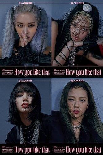 "This photo, provided by YG Entertainment on June 19, 2020, shows South Korean girl group BLACKPINK's teaser for its new song ""How You Like That."" The agency said the group will perform the song for the first time on NBC's ""The Tonight Show Starring Jimmy Fallon"" on June 26 (U.S. time). (PHOTO NOT FOR SALE) (Yonhap)"