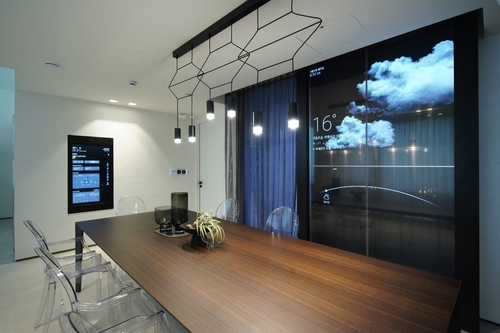This photo provided by LG Electronics Inc. on Sept. 3, 2020, shows the interior of its smart home, LG ThinQ Home, in Pangyo, south of Seoul. (PHOTO NOT FOR SALE) (Yonhap)