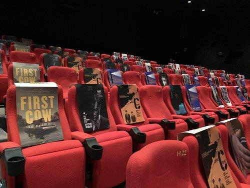 Social distancing measures are in place at a theater in the Busan Cinema Center, the main venue of the 25th Busan International Film Festival, in Busan, some 453 kilometers southeast of Seoul, on Oct. 20, 2020. (Yonhap)