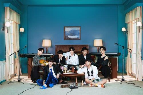 """This photo, provided by Big Hit Entertainment, shows a concept photo for the latest BTS album """"BE."""" (PHOTO NOT FOR SALE) (Yonhap)"""