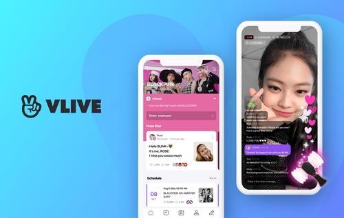 Naver's V Live streaming platform logs 100 mln global downloads   Yonhap  News Agency
