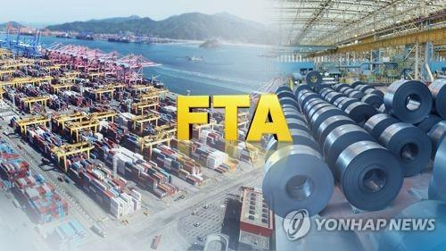 S. Korea logs trade surplus of over US$60 bln with FTA partners in 2020 - 1