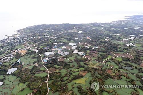 This undated file photo shows the Jeju Island town of Seongsan, the site designated for the construction of a new international airport. (Yonhap)