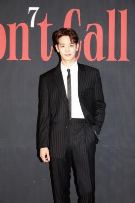 This photo, provided by SM Entertainment on Feb. 22, 2021, shows Minho of K-pop boy band SHINee during an online press conference. (PHOTO NOT FOR SALE)(Yonhap)