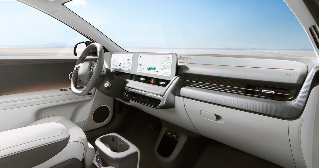 This file photo provided by Hyundai Motor shows the interior design of the IONIQ 5. (PHOTO NOT FOR SALE) (Yonhap)