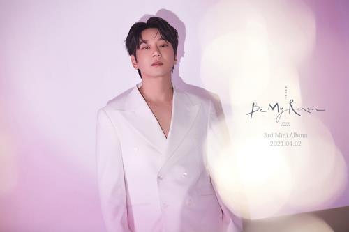 """This photo, provided by Ten2 Entertainment, shows a teaser image for """"Be My Reason,"""" South Korean ballad singer Hwang Chi-yeul's new album set for release on April 2, 2021. (Yonhap)"""