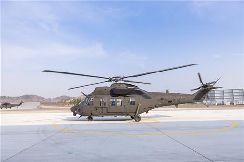 This file photo provided by KAI shows the Surion (KUH-1) transport utility helicopter. (PHOTO NOT FOR SALE) (Yonhap)