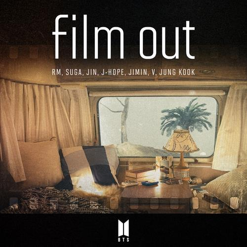 "This image provided by Big Hit Music on April 4, 2021, shows the cover for BTS' Japanese single, ""Film Out."" (PHOTO NOT FOR SALE) (Yonhap)"