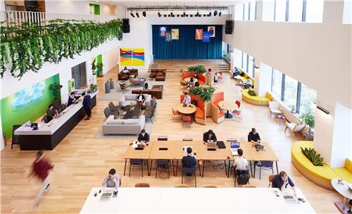 This file photo provided by WeWork Korea shows its coworking location in Yeouido, Seoul. (PHOTO NOT FOR SALE) (Yonhap)