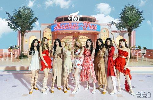 This photo, provided by JYP Entertainment, shows K-pop act TWICE. (PHOTO NOT FOR SALE) (Yonhap)