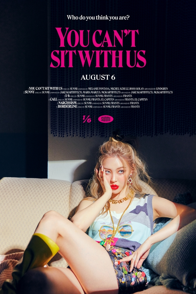 """This image, provided by Abyss Company, shows a poster for Sunmi's new song """"You Can't Sing With Us."""" (PHOTO NOT FOR SALE) (Yonhap)"""