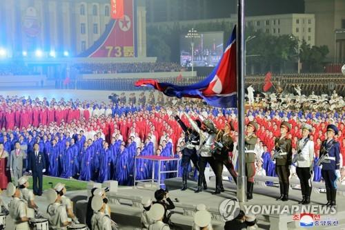 A military parade is staged at Kim Il-sung Square in Pyongyang on Sept. 9, 2021, to celebrate the 73rd anniversary of the country's founding, in this photo released by the North's official Korean Central News Agency. (For Use Only in the Republic of Korea. No Redistribution) (Yonhap)