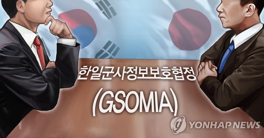 韓国政府は22日、日本とのGSOMIA終了を条件付きで延期することを決めた=(聯合ニュース)