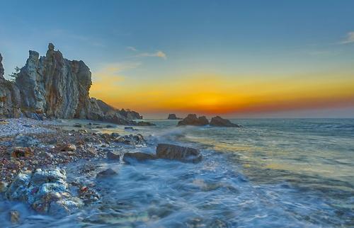 10억년 세월 버텨온 나이테 바위 [사진/성연재기자]