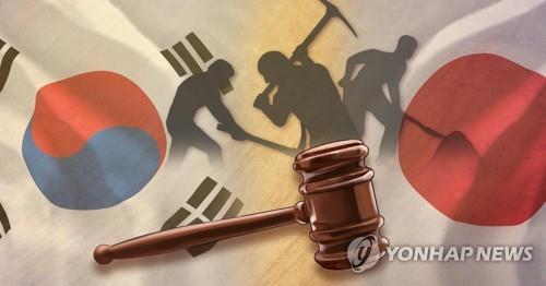'징용 판결' 한일대립(PG) [최자윤 제작 사진합성 일러스트]